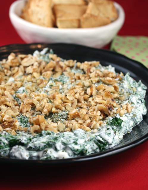 Dip into this spinach-walnut-dried mint dip.
