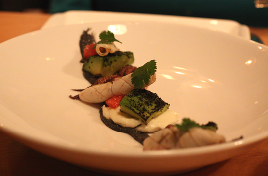 I could have eaten two orders of this squid dish with charred avocado.