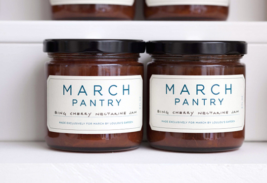 MARCH sells its own line of spices, jams and vinegars. (Photo by Drew Altizer)