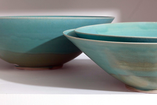 Striking bowls for sale at MARCH. (Photo by Drew Altizer)
