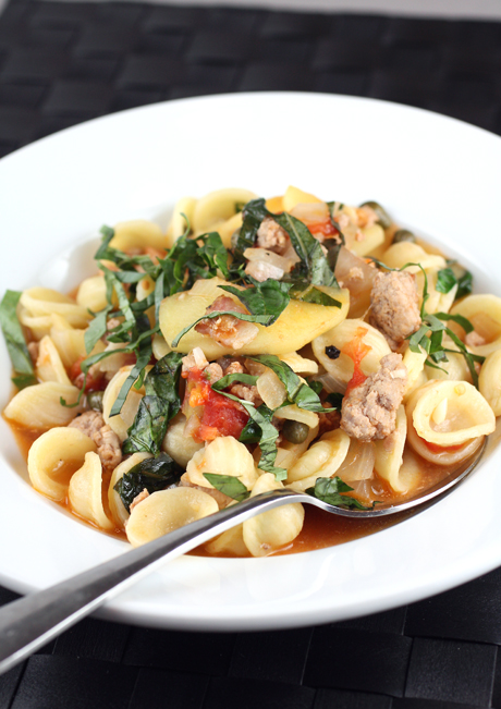 """Top Chef'' Stephanie Izard's pasta with pork, bacon and apples."