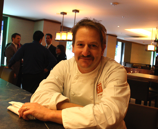 Chef Ron Siegel at the bar of Parallel 37, the restaurant formerly known as the Dining Room at the Ritz-Carlton.