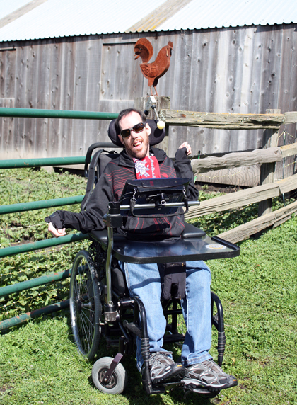 Ben Young, who has cerebral palsy, is the son of the legendary Neil Young.