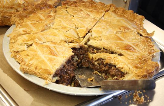 Tourtiere -- Quebec meat pie.