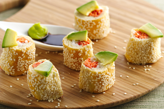 Sushi made with Pillsbury dough. How cool is that? (Photo courtesy of Pillsbury)