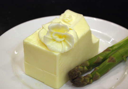 Pepin's handiwork in turning butter into flowers.