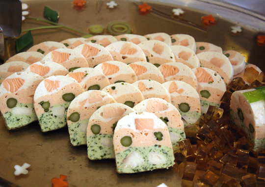 A fancy French mousse terrine.