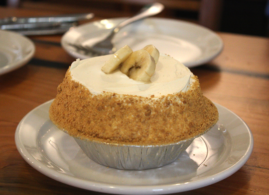 It's impossible to pass up the banana cream pie.