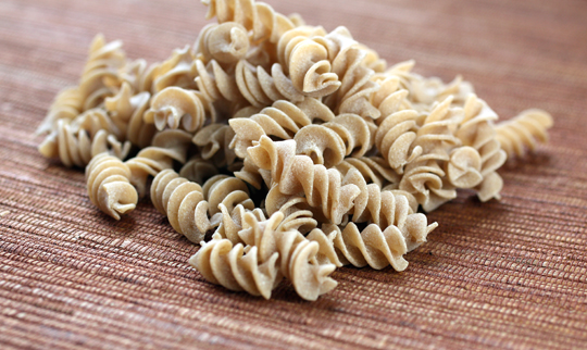 Fusilli -- made from wheat grown right here in California.