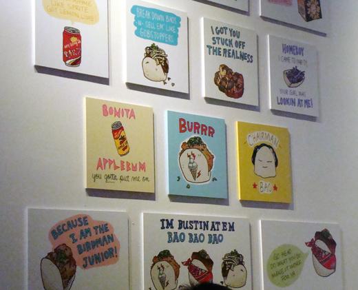 The zany artwork at BaoHaus.