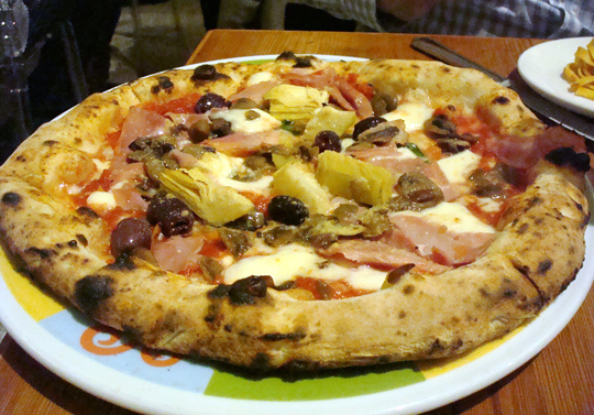 Pizza at Eataly.