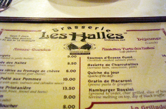 The one and only Les Halles.
