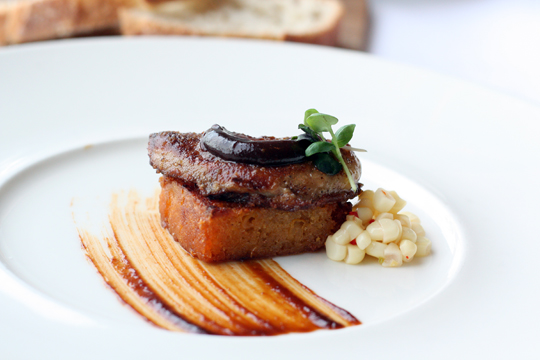 Seared foie gras with a vibrant Texan influence.