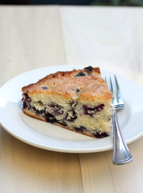 Good-for-you blueberries shine in this easy cake.