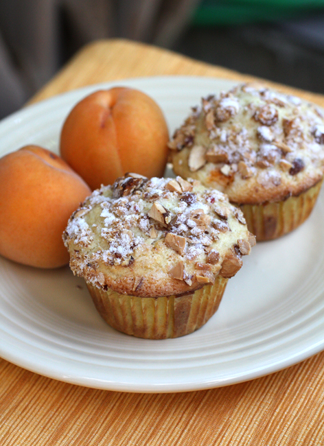 Sweet, salty, tender and crunchy -- that's what these apricot muffins are like.