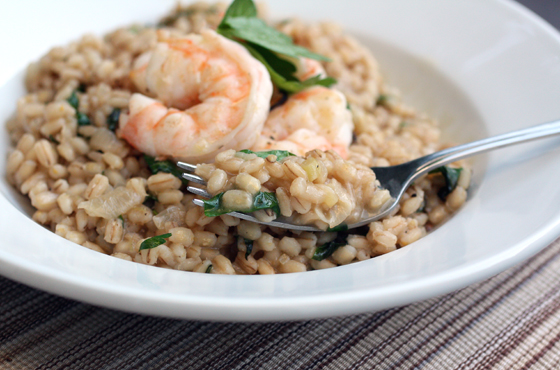 A riff on traditional rice risotto.