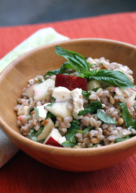 Use the last of summer's nectarines in this light-bright farro salad.
