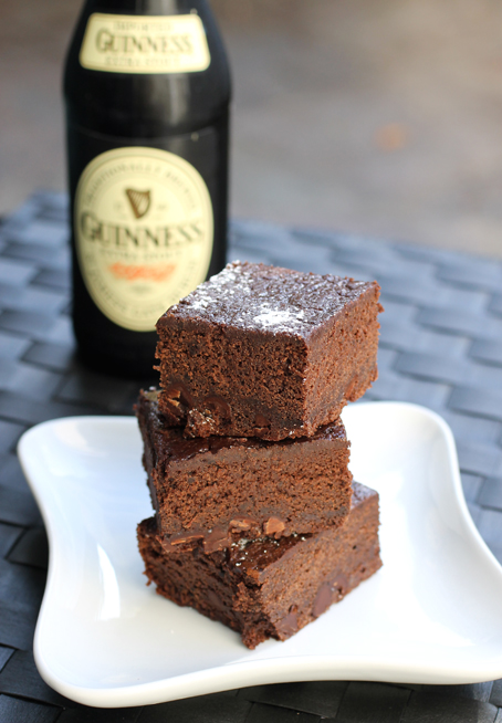 Fudgy brownies with a sudsy ingredient.