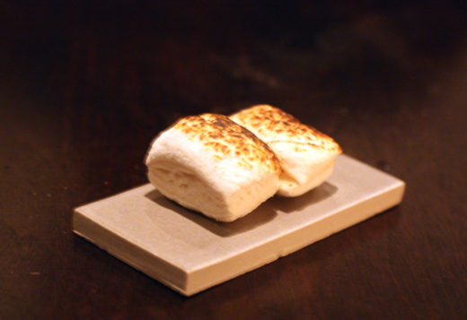 The final bite -- a toasted, warm vanilla marshmallow.