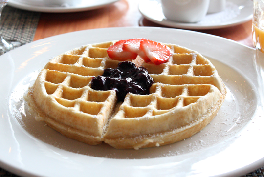 An airy waffle for lighter appetites.