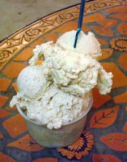 Bulgarini's spectacular macadamia, hazelnut and pistachio gelatos.