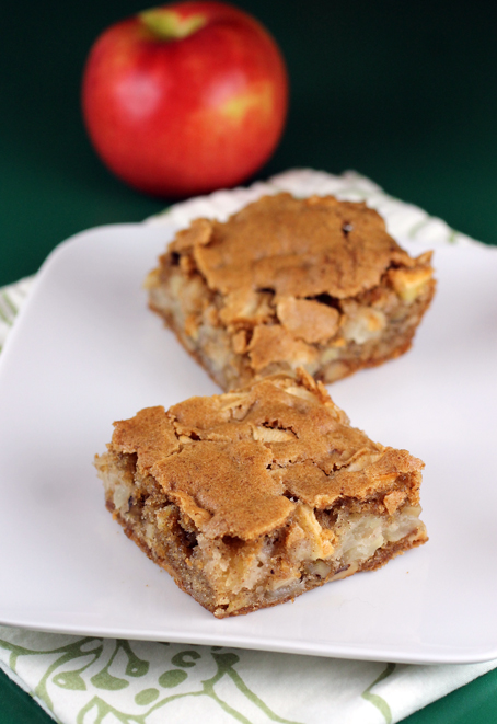 Not your usual brownies. These are made with apples.