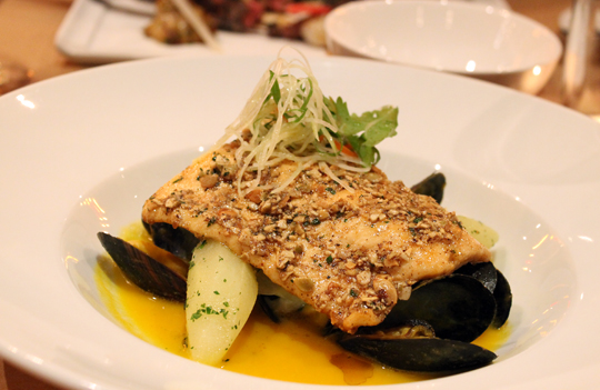 Arctic char in a Thai curry-like rendition.