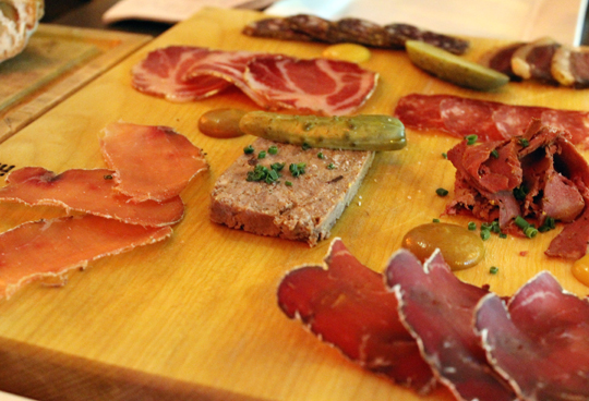Charcuterie for two at Chez Victoire.