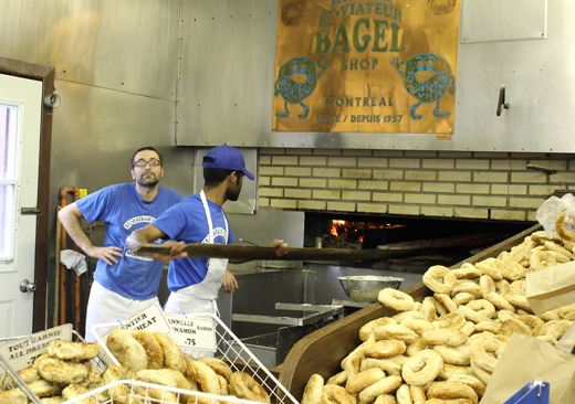 A wood-fired oven gives these bagels a wonderful smokiness.
