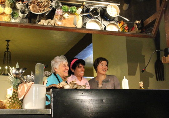 (L to R): Martha Miller, demo kitchen coordinator; Chef Ariane Duarte; and yours truly.
