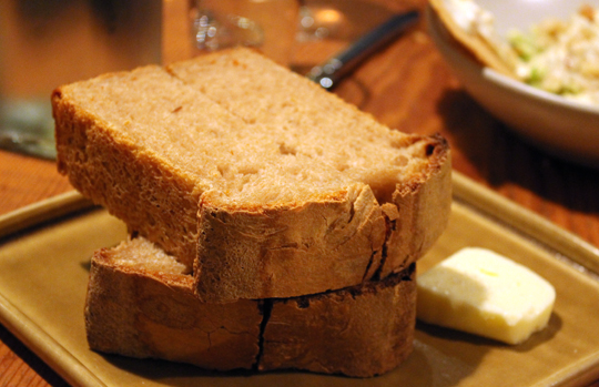 The bread costs extra. But the home-made loaf is well worth the cost.