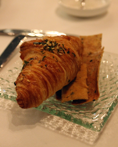 You choice of at least four different house-made breads, including a whole-grain croissant.