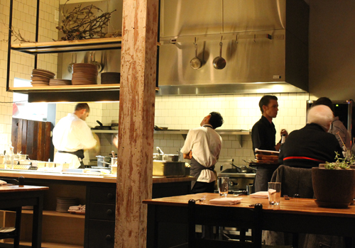 The open kitchen at Rich Table.