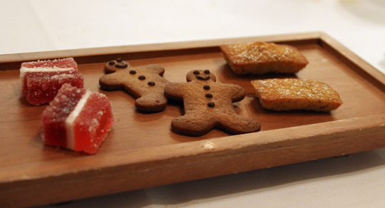 A trio of sweets.