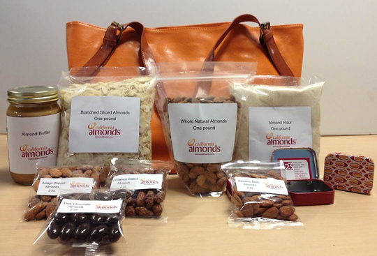 Your chance to win all of this from the Almond Board of California. (Photo courtesy of the Almond Board)