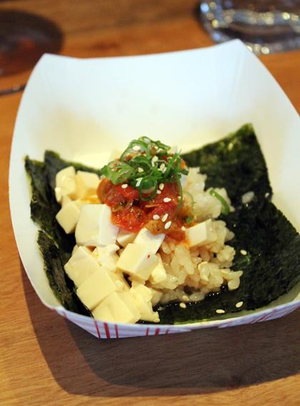 Tofu taco.