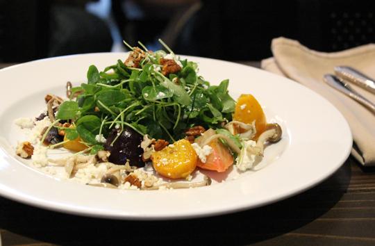A simple yet spectacular beet and mushroom salad.
