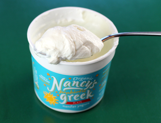 Thick and creamy Greek yogurt.