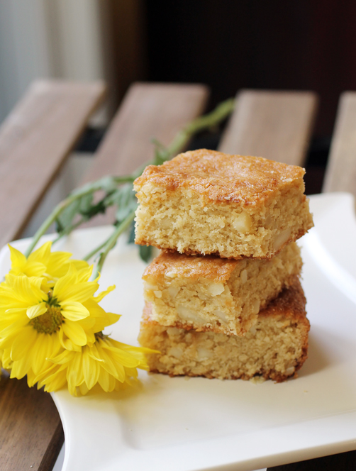 Moist from buttermilk and shredded coconut, these blondies won't even make you miss the chocolate.