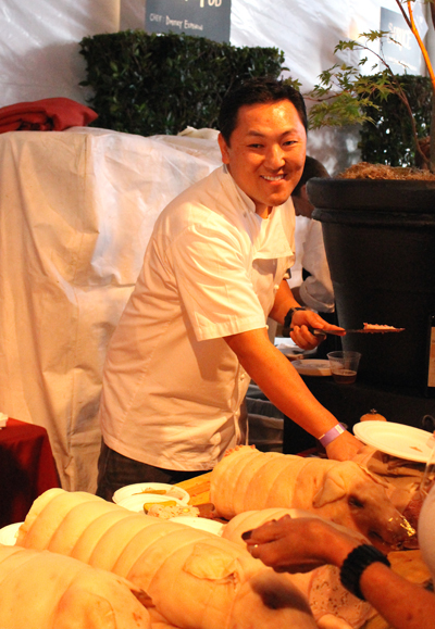 "Cosentino's special assistant that night: Sang Yoon, chef-owner of Father's Office in Los Angeles and competitor on this year's ""Top Chef Masters.''"