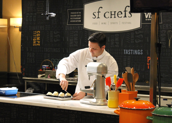 William Werner of Craftsman and Wolves at his demo at SF Chefs.