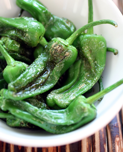 Padron peppers from Happy Quail Farms. (Photo by Carolyn Jung)