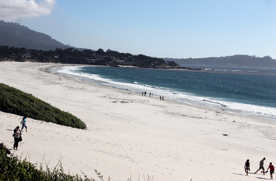 The beach is just a short stroll away.