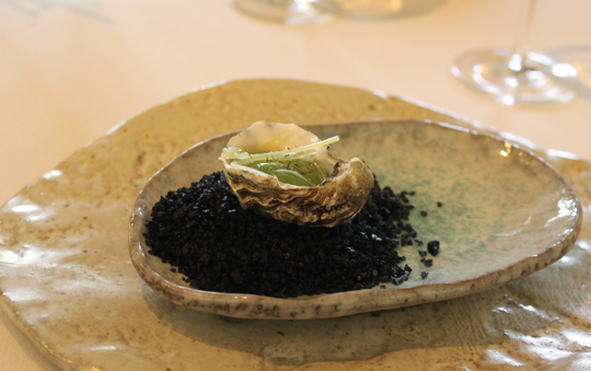 The oyster amuse.