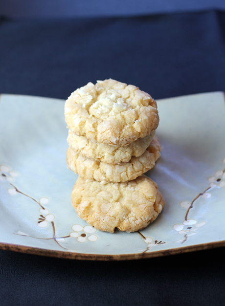 The recipe for these melt-in-your-mouth almond cookies can be found in my new cookbook.