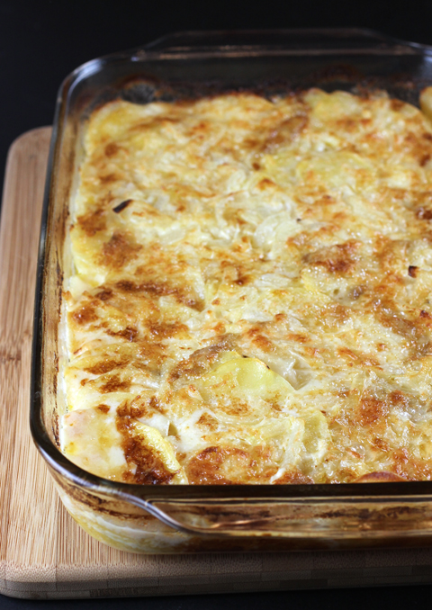 A luxurious potato gratin made with an award-winning cheese.