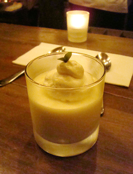 Kaffir lime custard.
