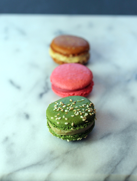 (Front to back): Sicilian Pistachio,5th Element, and Salted Caramel.