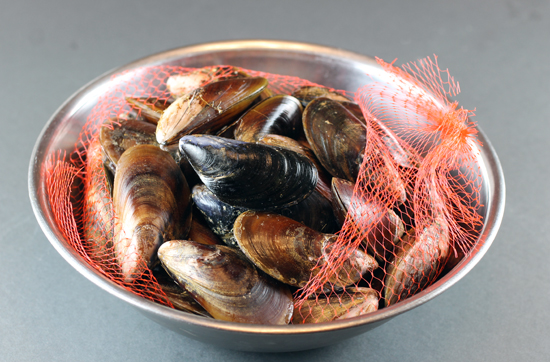 Honey Mussels -- before cooking.