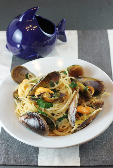 A simple pasta dish made extra special with new Honey Mussels.